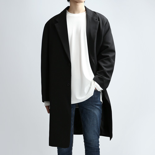 PLAIN SINGLE COAT (BLACK)
