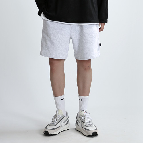 HEAVY SWEAT SHORTS (WHT GRAY)