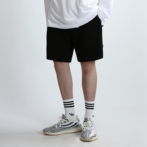 HEAVY SWEAT SHORTS (BLACK)