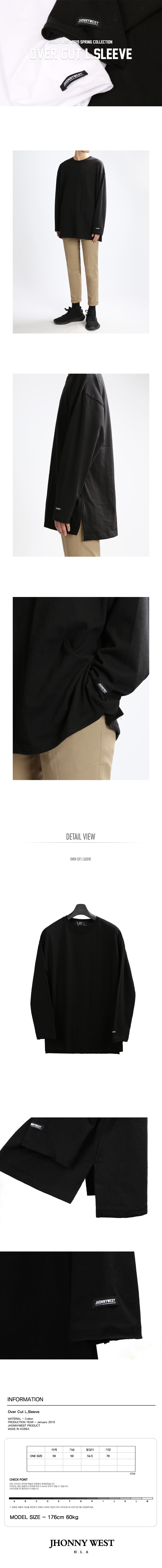 JHONNY WEST - Over Cut L.Sleeve (Black)