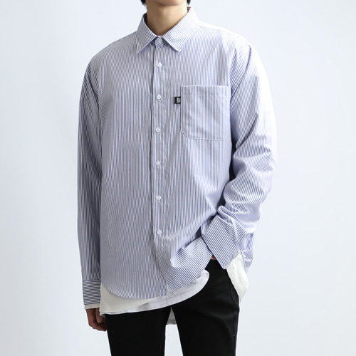 COLUMN STRIPE SHIRTS (BLUE)