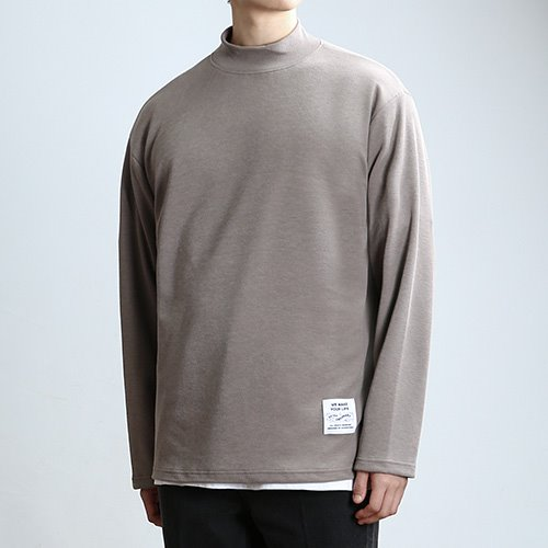 QUARTER.NECK SLEEVES (MUD)