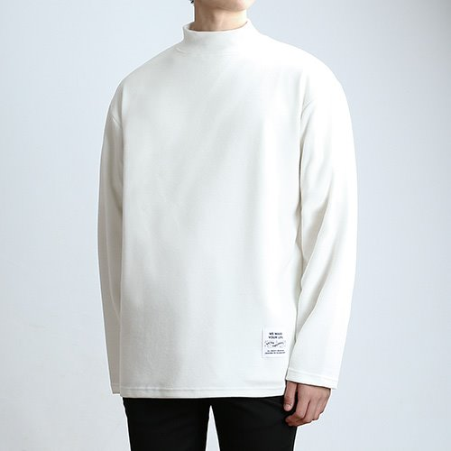 QUARTER.NECK SLEEVES (CREAM)