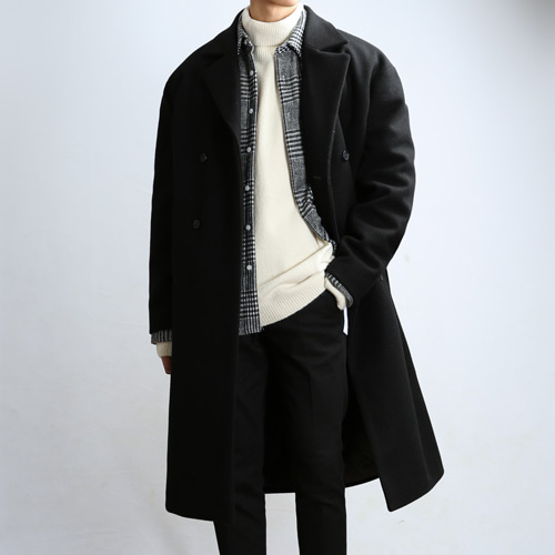 PLENTY WOOL TRENCH COAT (Black)