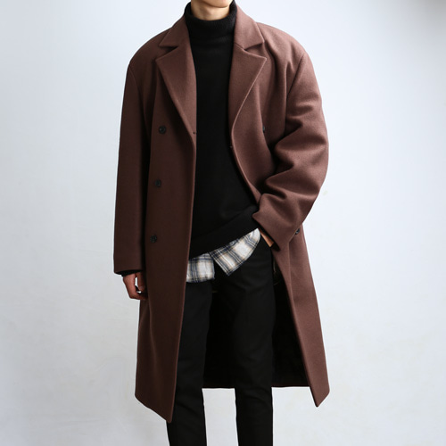PLENTY WOOL TRENCH COAT (Kan Brown)