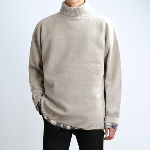 LAMBS LONG TURTLENECK (Oatmeal)