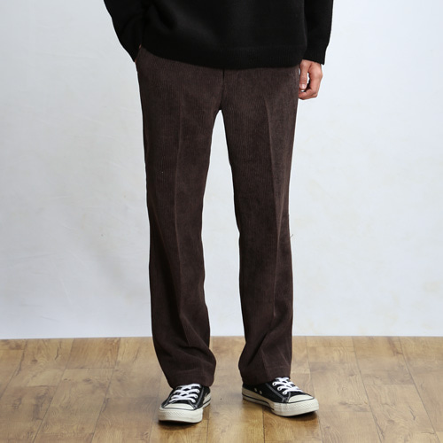 CORDUROY COMFORT PANTS (Dark Brown)