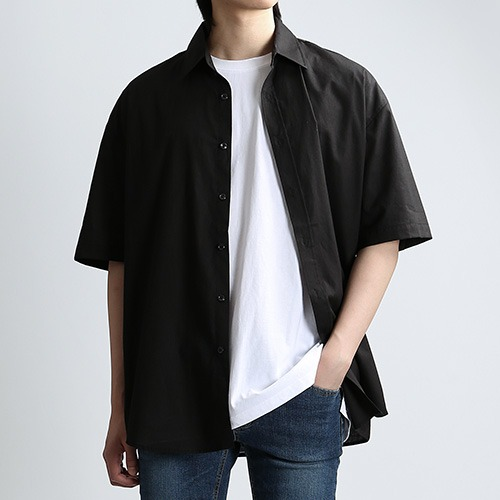 SHARP.TEX SUMMER SHIRTS (BLACK)