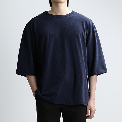SLUB THIRD SLEEVES (NAVY)